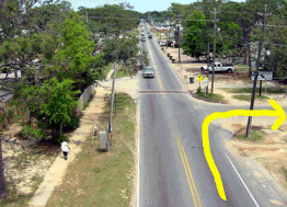Aerial Photo of a Right Turn